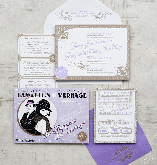 Lacey & Benjamin - Luxury Wedding Invitations - Ornate - Ceci Couture - Ceci Wedding - Ceci New York