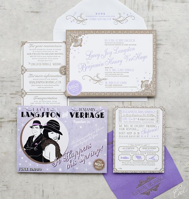 Luxury Wedding Invitations By Ceci New York: Lacey & Benjamin :: Ceci Ornate Style :: Ceci Couture