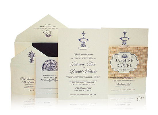 Breakers Row - Luxury Wedding Invitations - The Breakers, Palm Beach - Ceci Partnerships - Ceci New York