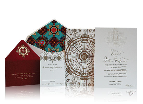 The Circle Room - Luxury Wedding Invitations - The Breakers, Palm Beach - Ceci Partnerships - Ceci New York