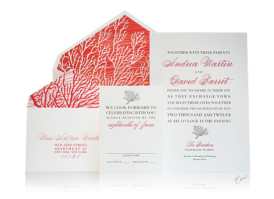 Coral Cove - Luxury Wedding Invitations - The Breakers, Palm Beach - Ceci Partnerships - Ceci New York