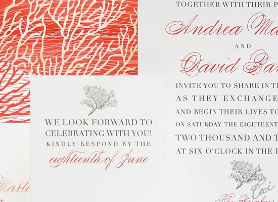 Coral Cove - Luxury Wedding Invitations - Details - The Breakers, Palm Beach - Ceci Partnerships - Ceci New York
