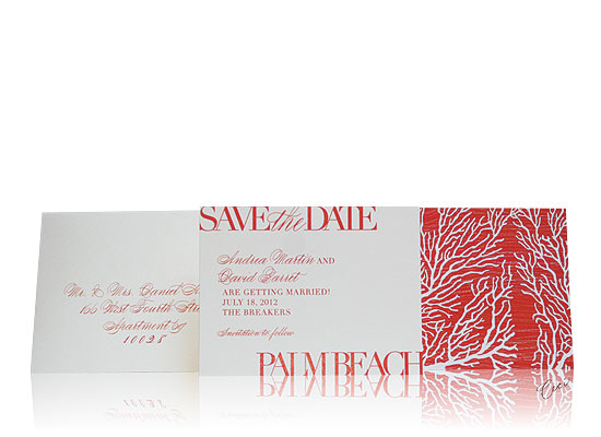 Coral Cove - Luxury Wedding Save the Dates - The Breakers, Palm Beach - Ceci Partnerships - Ceci New York