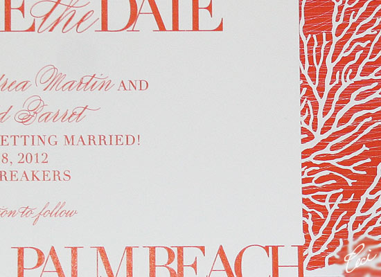 Coral Cove - Luxury Wedding Save the Dates - Details - The Breakers, Palm Beach - Ceci Partnerships - Ceci New York