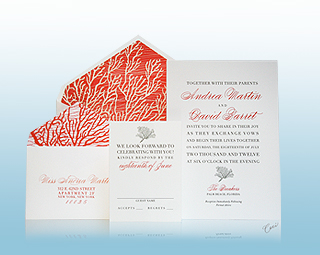 Coral Cove - Luxury Wedding Invitations, Save the Dates, Accessories - The Breakers, Palm Beach - Ceci New York