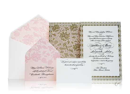 Florentine - Luxury Wedding Invitations - The Breakers, Palm Beach - Ceci Partnerships - Ceci New York