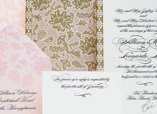 Florentine - Luxury Wedding Invitations - Details - The Breakers, Palm Beach - Ceci Partnerships - Ceci New York
