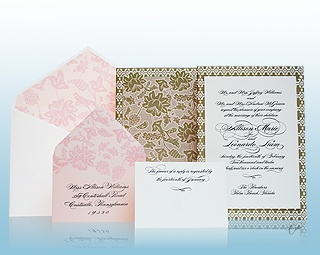 Florentine - Luxury Wedding Invitations, Save the Dates, Accessories - The Breakers, Palm Beach - Ceci New York