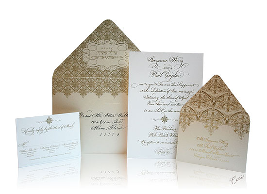 The Gold Room - Luxury Wedding Invitations - The Breakers, Palm Beach - Ceci Partnerships - Ceci New York