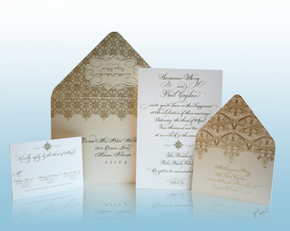 The Gold Room - Luxury Wedding Invitations, Save the Dates, Accessories - The Breakers, Palm Beach - Ceci New York