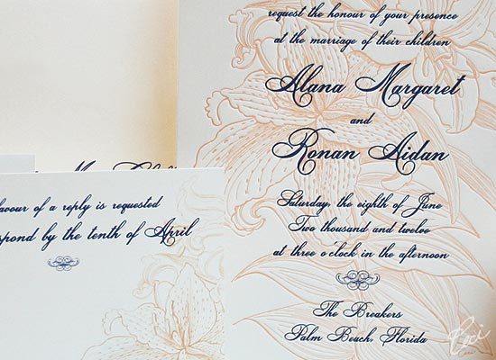 Grand Flora - Luxury Wedding Invitations - Details - The Breakers, Palm Beach - Ceci Partnerships - Ceci New York