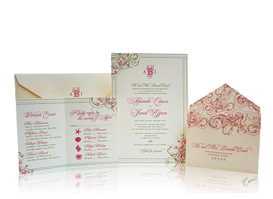 Ocean Breeze - Luxury Wedding Invitations - The Breakers, Palm Beach - Ceci Partnerships - Ceci New York