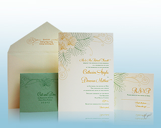 Palm Court - Luxury Wedding Invitations, Save the Dates, Accessories - The Breakers, Palm Beach - Ceci New York