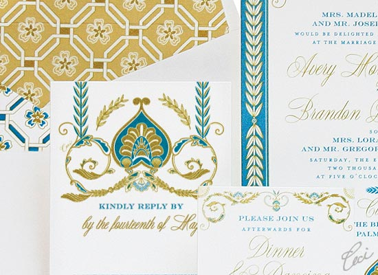 Royal Palazzo - Luxury Wedding Invitations - Details - The Breakers, Palm Beach - Ceci Partnerships - Ceci New York