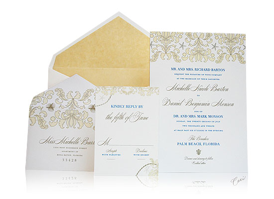 Stella Maris - Luxury Wedding Invitations - The Breakers, Palm Beach - Ceci Partnerships - Ceci New York