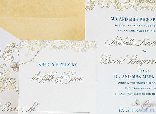 Stella Maris - Luxury Wedding Invitations - Details - The Breakers, Palm Beach - Ceci Partnerships - Ceci New York