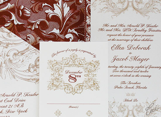 Venetian - Luxury Wedding Invitations - Details - The Breakers, Palm Beach - Ceci Partnerships - Ceci New York