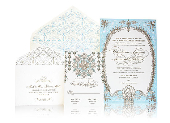 Whitehall - Luxury Wedding Invitations - The Breakers, Palm Beach - Ceci Partnerships - Ceci New York