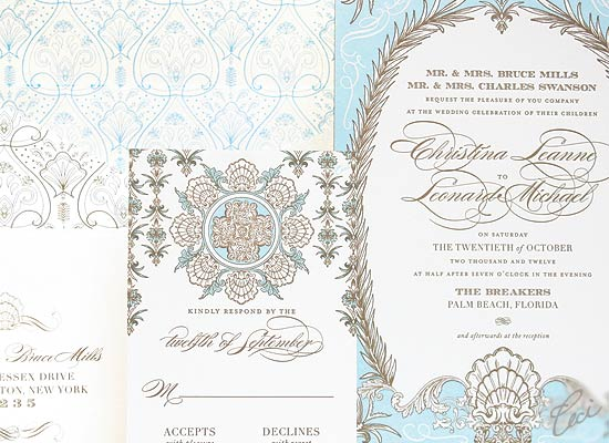 Whitehall - Luxury Wedding Invitations - Details - The Breakers, Palm Beach - Ceci Partnerships - Ceci New York