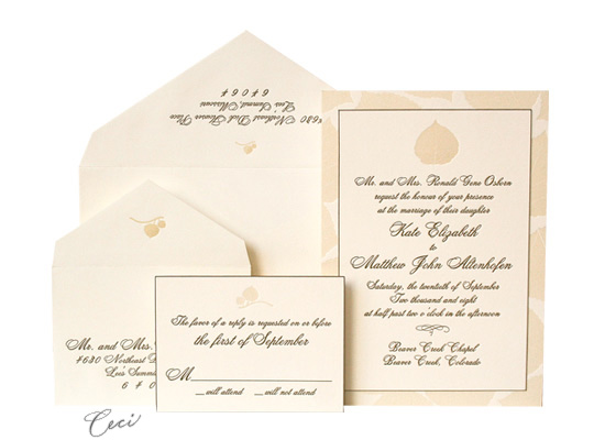Aspen - Luxury Wedding Invitations - Ceci Ready-to-Order Collection - Ceci Wedding - Ceci New York