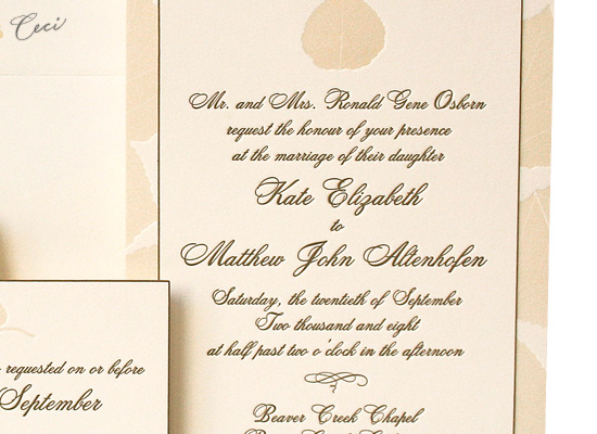 Aspen - Details - Luxury Wedding Invitations - Ceci Ready-to-Order Collection - Ceci Wedding - Ceci New York