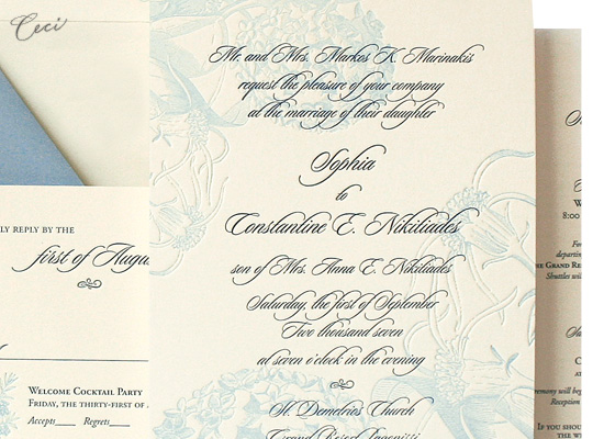 Athena - Details - Luxury Wedding Invitations - Ceci Ready-to-Order Collection - Ceci Wedding - Ceci New York
