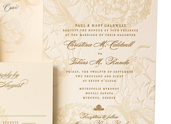 Guinevere - Details - Luxury Wedding Invitations - Ceci Ready-to-Order Collection - Ceci Wedding - Ceci New York