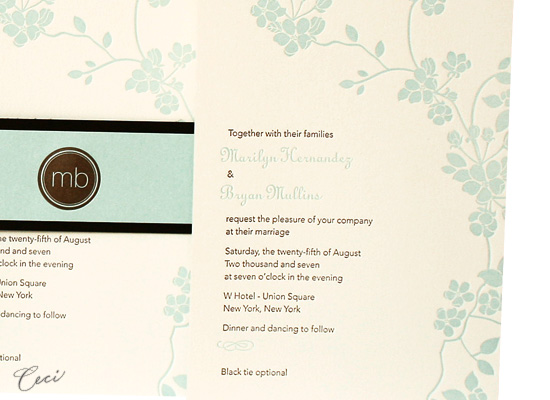 Mimosa - Details - Luxury Wedding Invitations - Ceci Ready-to-Order Collection - Ceci Wedding - Ceci New York