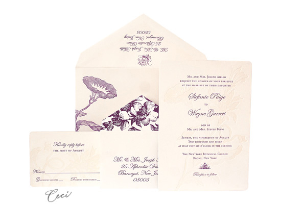 Morning Glory - Luxury Wedding Invitations - Ceci Ready-to-Order Collection - Ceci Wedding - Ceci New York