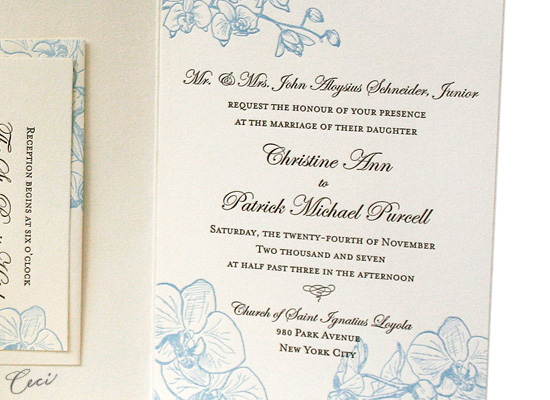 Orchid - Details - Luxury Wedding Invitations - Ceci Ready-to-Order Collection - Ceci Wedding - Ceci New York