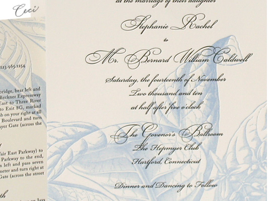 Royal Botanica - Details - Luxury Wedding Invitations - Ceci Ready-to-Order Collection - Ceci Wedding - Ceci New York