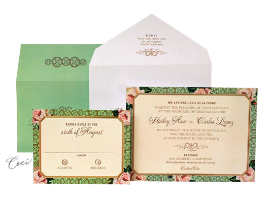 Spanish Rose - Luxury Wedding Invitations - Ceci Ready-to-Order Collection - Ceci Wedding - Ceci New York