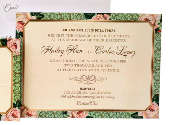 Spanish Rose - Details - Luxury Wedding Invitations - Ceci Ready-to-Order Collection - Ceci Wedding - Ceci New York