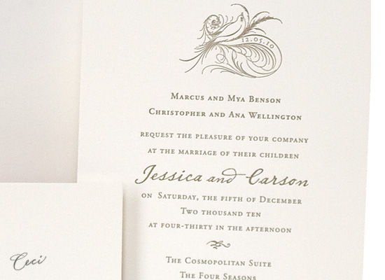 Aerial - Details - Luxury Wedding Invitations - Ceci Ready-to-Order Collection - Ceci Wedding - Ceci New York