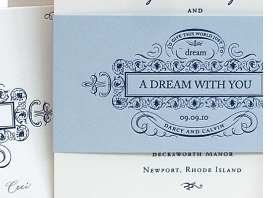 Dream - Details - Luxury Wedding Invitations - Ceci Ready-to-Order Collection - Ceci Wedding - Ceci New York