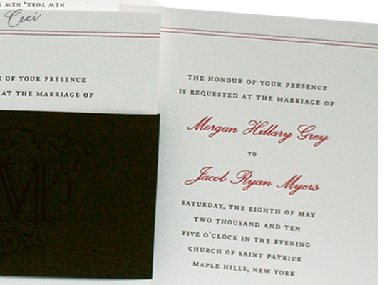 Tastemaker - Details - Luxury Wedding Invitations - Ceci Ready-to-Order Collection - Ceci Wedding - Ceci New York
