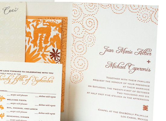 Del Sol - Details - Luxury Wedding Invitations - Ceci Ready-to-Order Collection - Ceci Wedding - Ceci New York