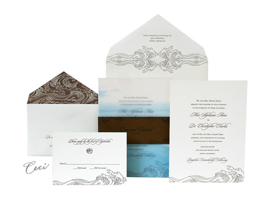 Las Olas - Luxury Wedding Invitations - Ceci Ready-to-Order Collection - Ceci Wedding - Ceci New York