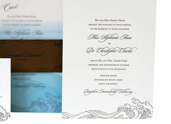 Las Olas - Details - Luxury Wedding Invitations - Ceci Ready-to-Order Collection - Ceci Wedding - Ceci New York
