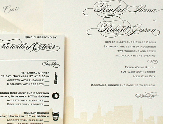 42nd and Lex - Details - Luxury Wedding Invitations - Ceci Ready-to-Order Collection - Ceci Wedding - Ceci New York