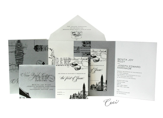 Broadway - Luxury Wedding Invitations - Ceci Ready-to-Order Collection - Ceci Wedding - Ceci New York