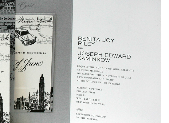 Broadway - Details - Luxury Wedding Invitations - Ceci Ready-to-Order Collection - Ceci Wedding - Ceci New York