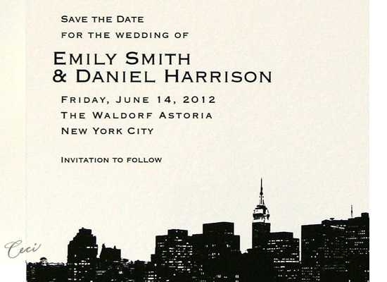 Evening Skyline - Details - Luxury Wedding Invitations - Ceci Ready-to-Order Collection - Ceci Wedding - Ceci New York