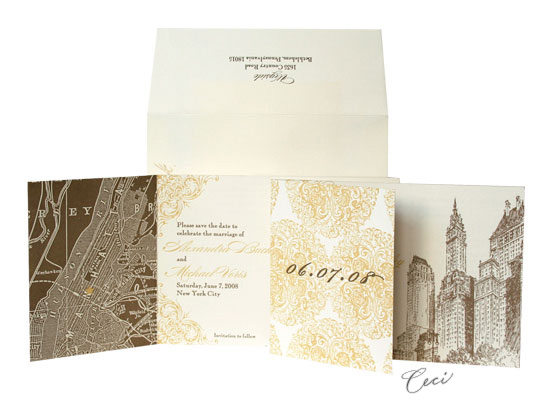5th Avenue Baroque - Luxury Wedding Invitations - Ceci Ready-to-Order Collection - Ceci Wedding - Ceci New York