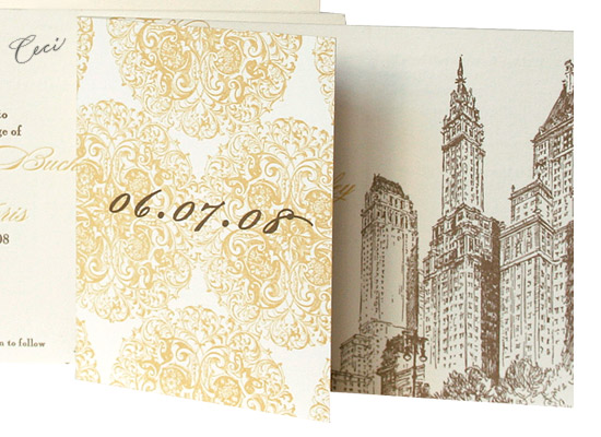 5th Avenue Baroque - Details - Luxury Wedding Invitations - Ceci Ready-to-Order Collection - Ceci Wedding - Ceci New York