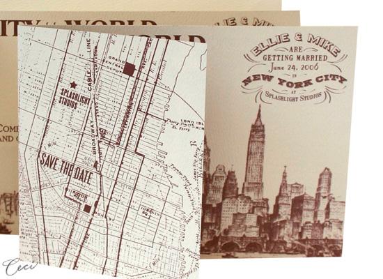 old new york :: wedding invitations :: new york :: ceci ready-to,