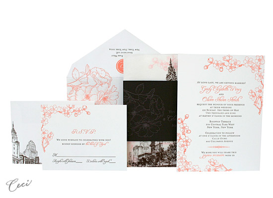 Rooftop Garden - Luxury Wedding Invitations - Ceci Ready-to-Order Collection - Ceci Wedding - Ceci New York