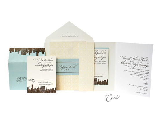 The Plaza - Luxury Wedding Invitations - Ceci Ready-to-Order Collection - Ceci Wedding - Ceci New York