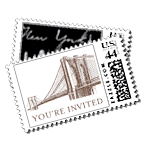 Evening Skyline Luxury Wedding Postage Stamps - Ceci Wedding - Ceci New York