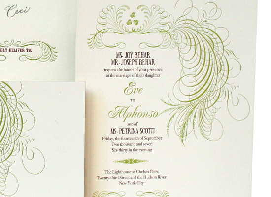 Eve - Details - Luxury Wedding Invitations - Ceci Ready-to-Order Collection - Ceci Wedding - Ceci New York
